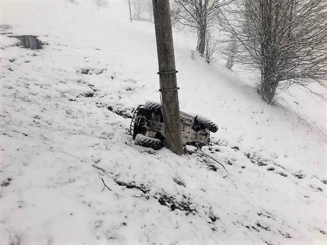 Turistă din Germania, grav rănită într-un accident cu ATV-ul, în Apuseni. foto: Jandarmeria Alba