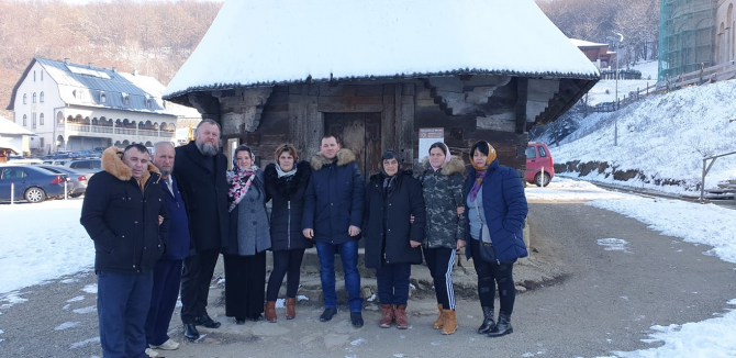 Familia Melencu la Mănăstirea Nicula