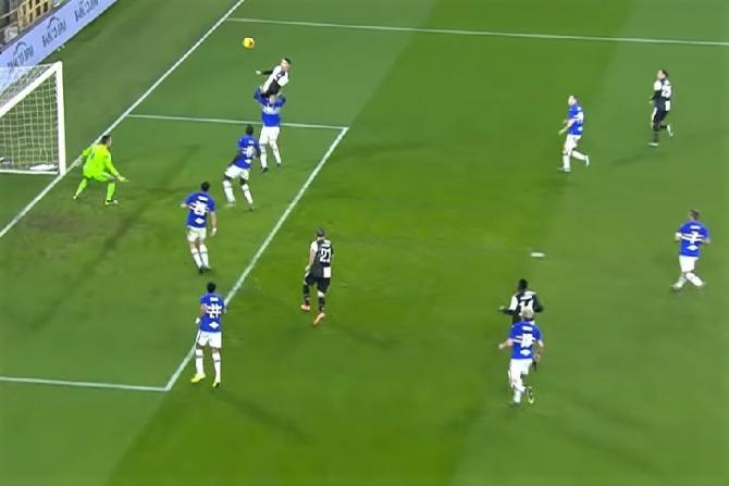 Gol Ronaldo cu capul, din saritură. foto: captura video