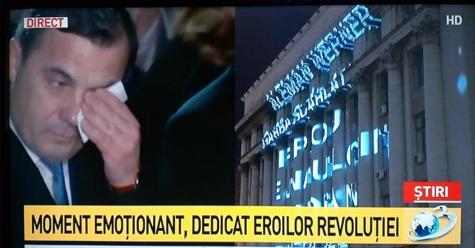 Ministrul Stefan Ion, în lacrimi, la Marșul Revoluției