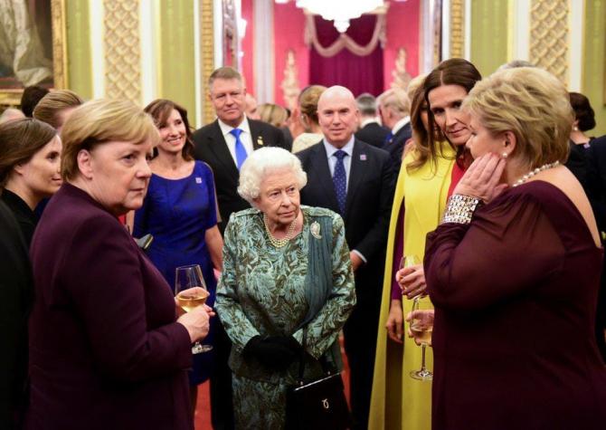 Reuniune NATO la Londra - Klaus Iohannis  la recepţiile oferite de către regina Elisabeta a II-a şi de premierul Marii Britanii, Boris Johnson
