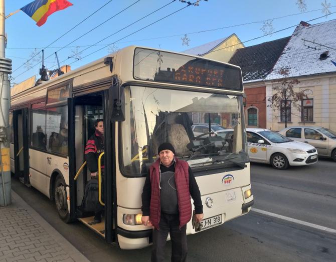 Rusu Vasile - șoferul de troleibuz din Cluj, care a făcut un gest de milioane
