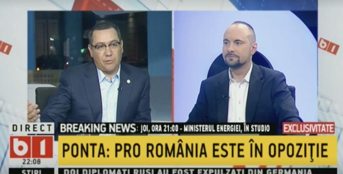 Ponta, la B1 TV