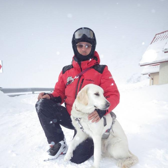 Tiberiu Krizbai - paramedic, salvamontist la Serviciul Public Salvamont al Judetului Alba. Sursa FOTO Tiberiu Krizbai Facebook