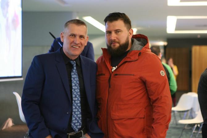 Peter Klosz și Vlad Stoica. foto: arhivă personala Vlad Stoica - FB