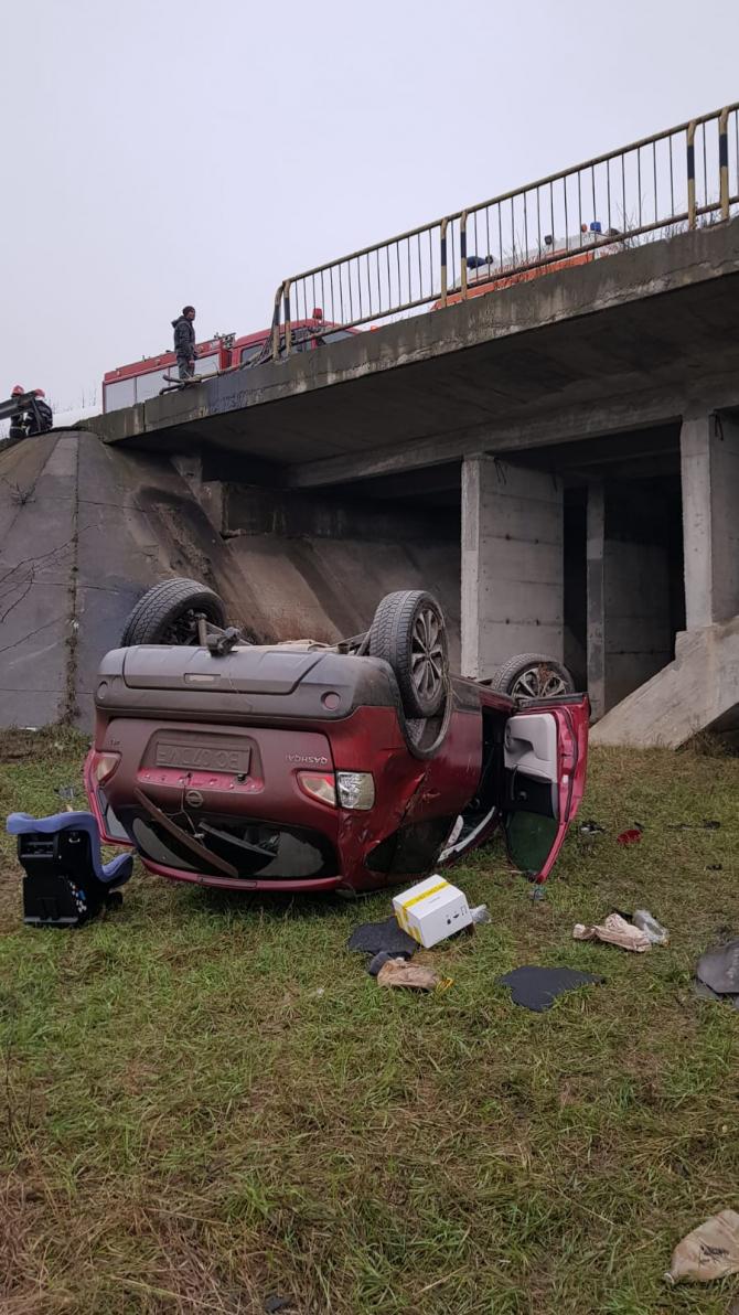 Accident. Foto: ISU Bacău