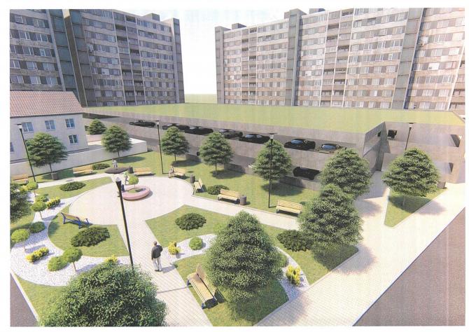 Așa va arăta zona de pe strada Tulnici: parcare, locuri de relaxare, spații verzi și blocuri reabilitate