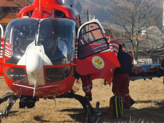 Intervenție elicopter SMURD. Foto: ISU Alba