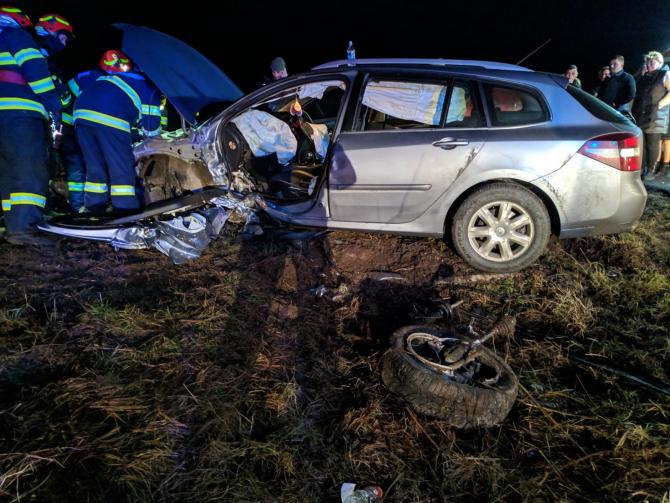 Accident. Foto: ISU Timiș
