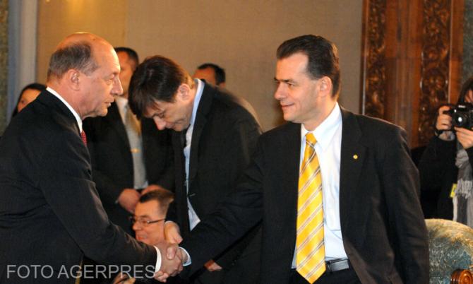 Basescu  -  Orban foto Agerpres