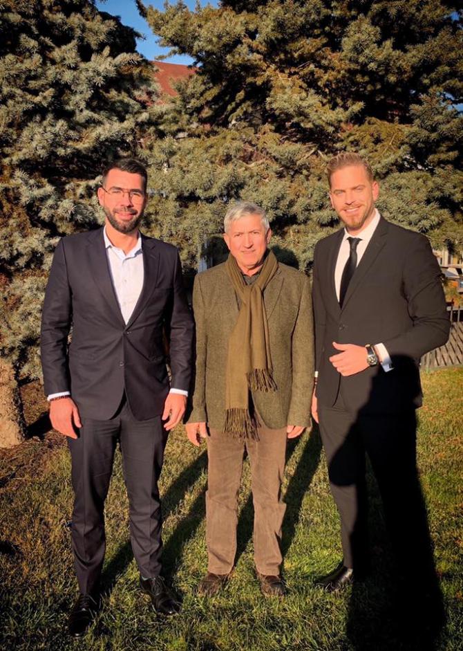 Alex Coita, Mircea Diaconu și Ilan Laufer