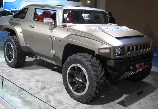 Conceptul electric al Hummer-ului, în 2008