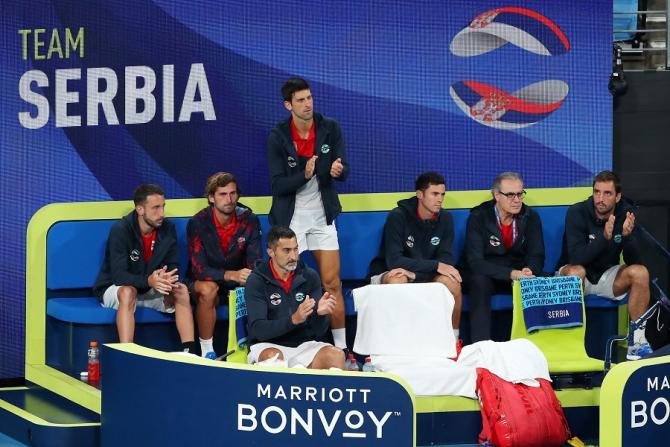 Serbia - Spania rezultat în finala ATP Cup. foto: @ATPCup - FB
