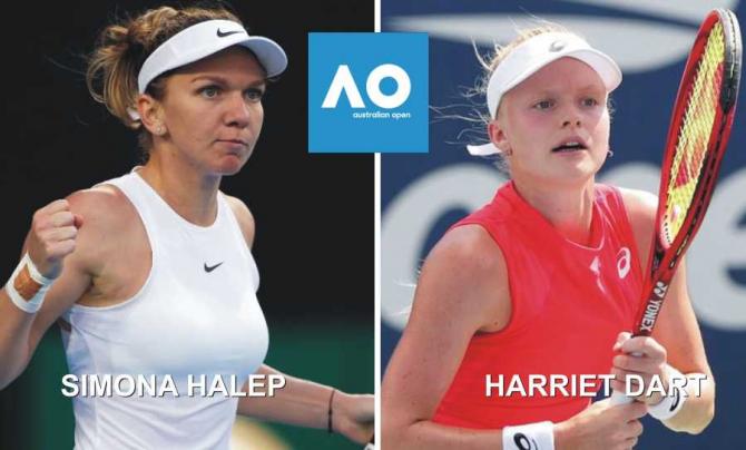Simona Halep - Harriet Dart | Rezultat în turul 2 la AUSTRALIAN OPEN 2020