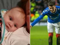 Ianis Hagi și bebeluș