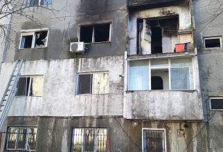 Explozie bloc. Foto: ISU Constanța