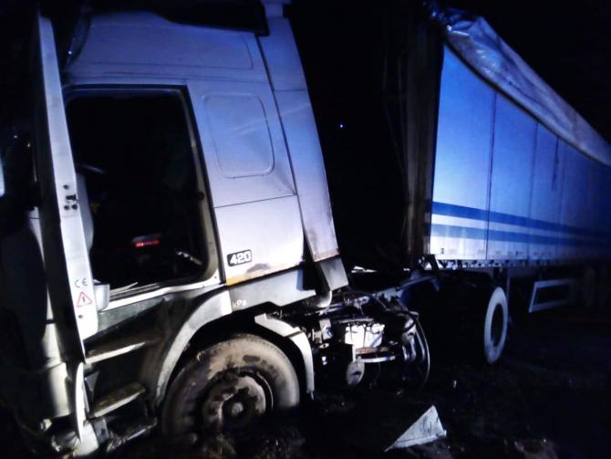 Accident TIR. FOTO: ISU Suceava