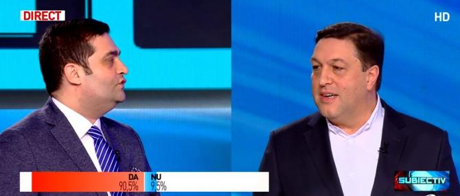 Tănase Stamule (PNL) și Șerban Nicolae (PSD)