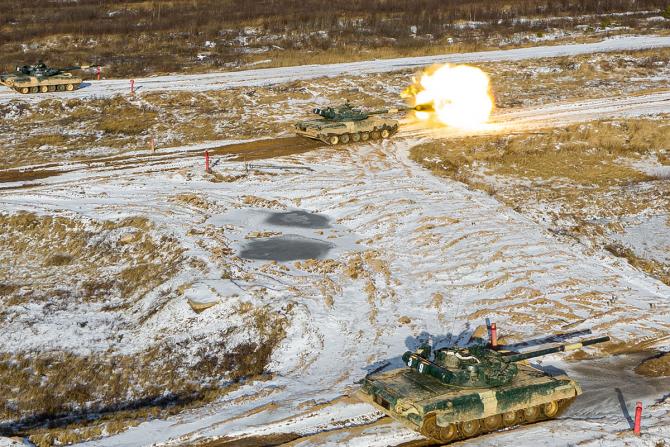 Tancuri rusești, sursă foto: Ministerul Apărării de la Moscova