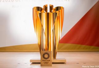 Trofeul olimpic. foto: Tokyo 2020 @tokyo2020 - FB