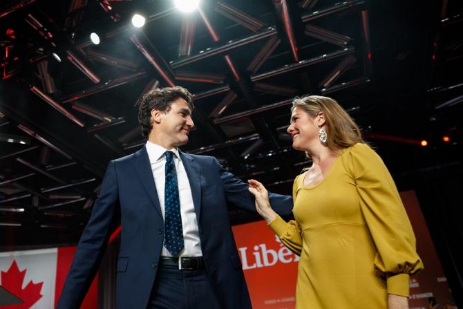 Justin Trudeau și soţia sa Sophie Gregoire. foto: Facebook