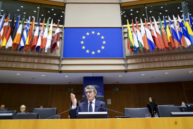David Sassoli, în sesiunea de urgență de joi a Parlamentului European