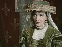 """Olga Bucătaru în  rolul Doamnei Stanca din """"Buzduganul cu trei peceți"""""""