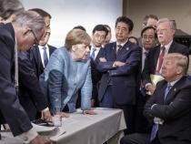 Imagine devenită virală din timpul unui summit G8