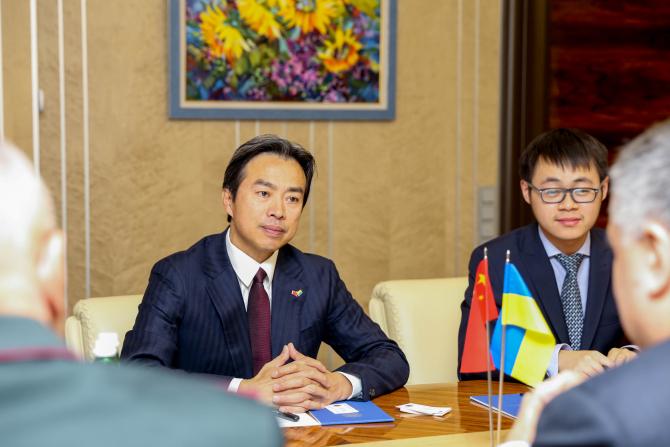 Ambasadorul chinez Du Wei, sursă foto: Ministry of Interior of Ukraine