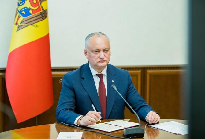 Igor Dodon: Constat cu îngrijorare modul provocator în care este denigrată Republica Moldova