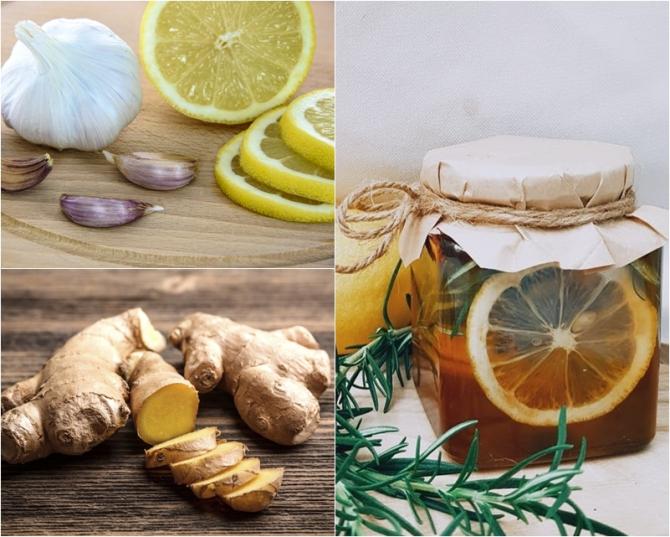 Usturoi cu miere lamaie si bicarbonat