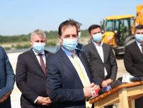 Ludovic Orban și Lucian Bode, verificare Drum expres. Foto: Ministerul Transporturilor