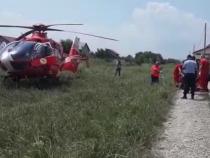 Elicopter SMURD. Intervenție salvare. Foto: ISU Vrancea