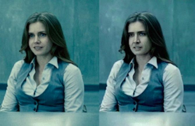 Imagini reale (stânga) și un deepfake (dreapta)