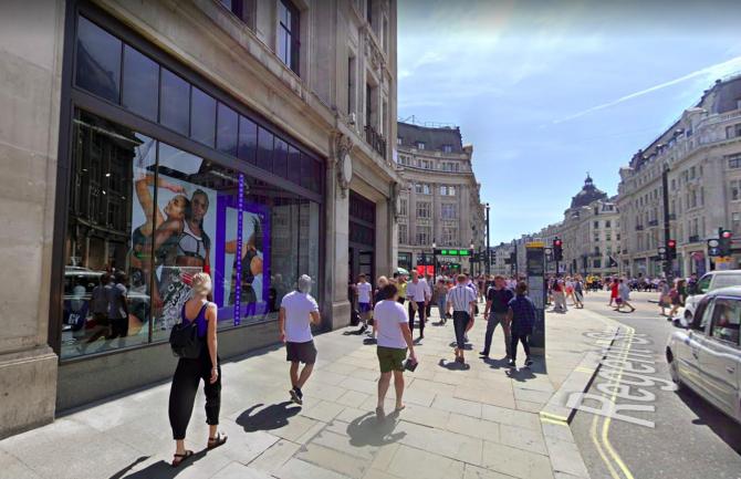 Imagine cu rol ilustrativ a magazinului Nike. Google Maps