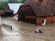 FOTO ARHIVĂ. Inundații puternice în județul Bihor. Foto: ISU Bihor