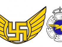 Emblema veche (stânga) și emblema nouă (dreapta). Foto: Ministerul Apărării din Finlanda