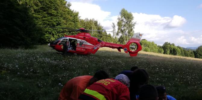 Foto cu caracter ilustrativ. Elicopter SMURD, intervenție în Covasna. Foto arhivă: ISU Covasna