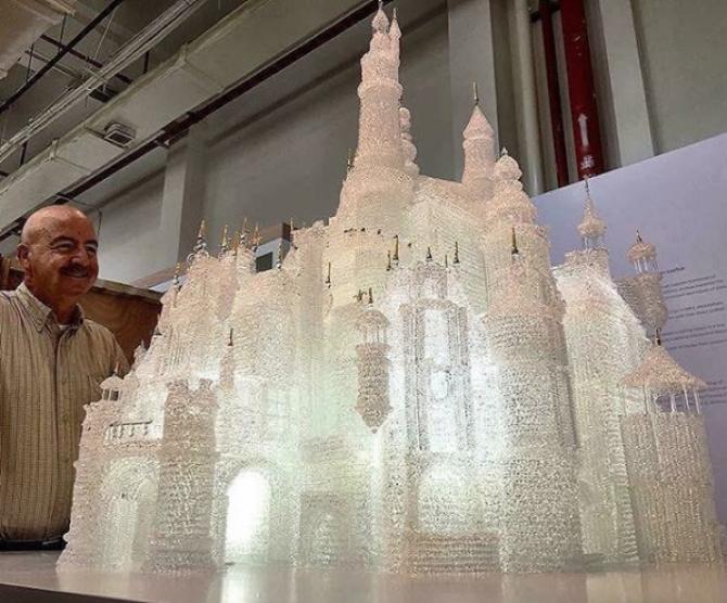Castelul Disney de la Muzeul de Sticlă din Shanghai FOTO Instagram