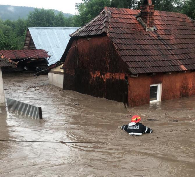 Inundații puternice în județul Bihor. Foto: ISU Bihor