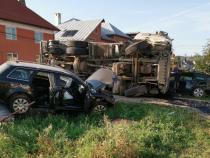 Accident grav. Foto: ISU Bistrița-Năsăud