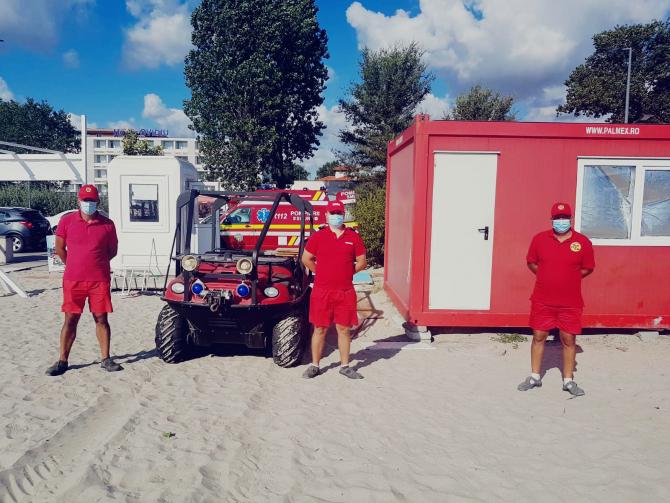 Echipaje ISU pe litoralul românesc. Foto: IGSU