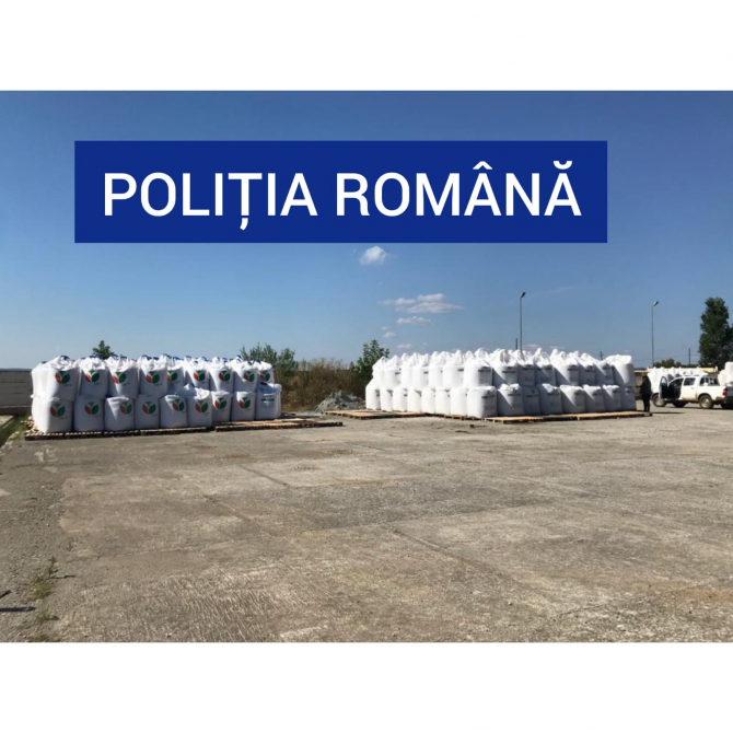 Azotat de amoniu. Foto: IPJ Caraș Severin