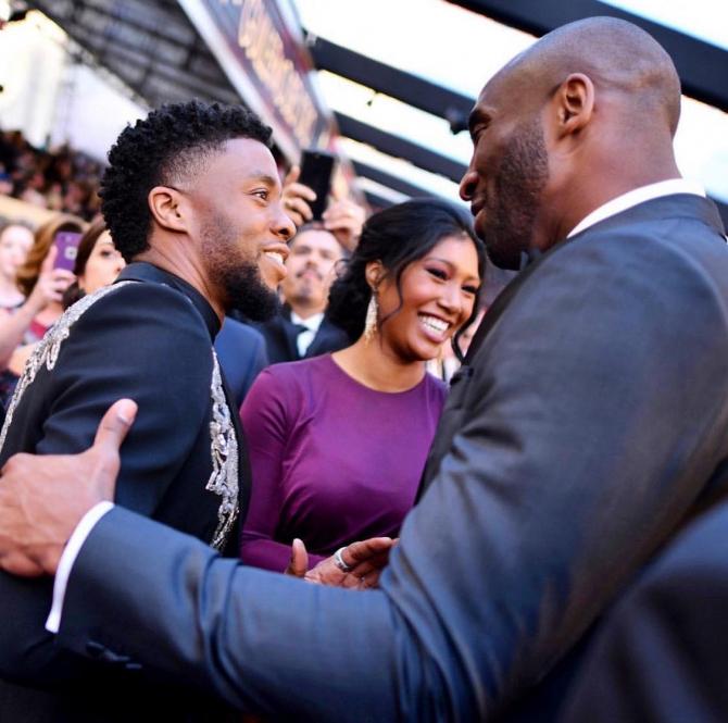 Chadwick Boseman și Kobe Bryant