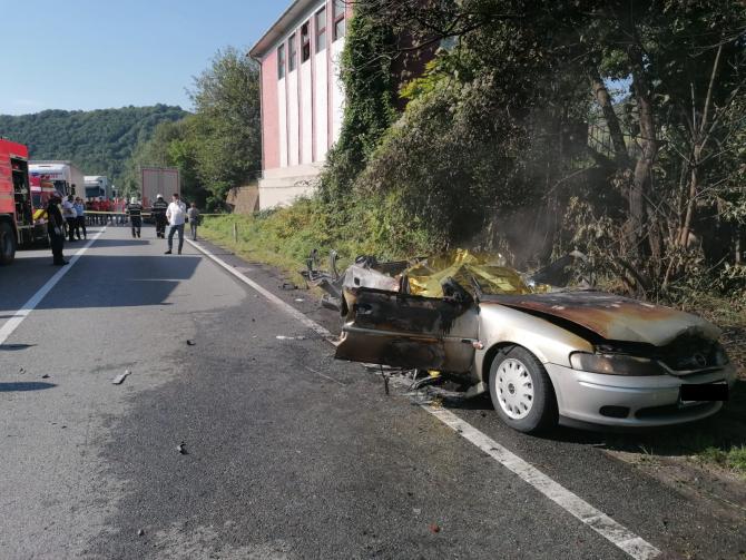 Accident grav în Mehedinți. Foto: ISU Mehedinți