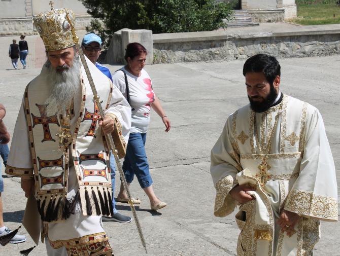 Teodosie la Mănăstirea Sf, Andrei, Constanța  Foto: Crișan Andreescu