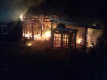 Incendiu cabană. Foto: ISU Cluj