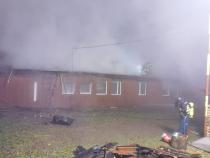 Incendiu cabană. Foto: ISU Iași