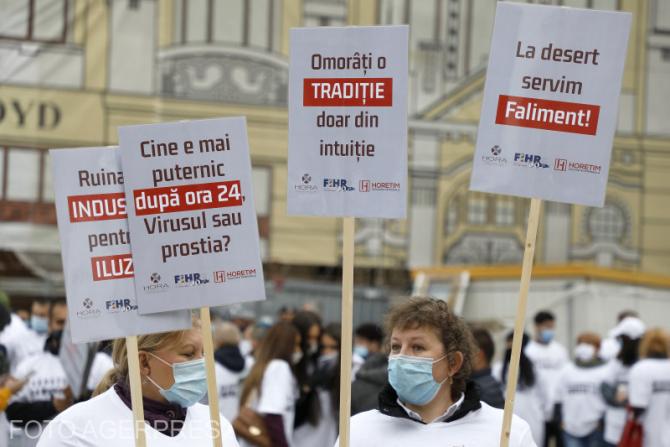 Protestul  angajaților din industria HORECA  la Timișoara