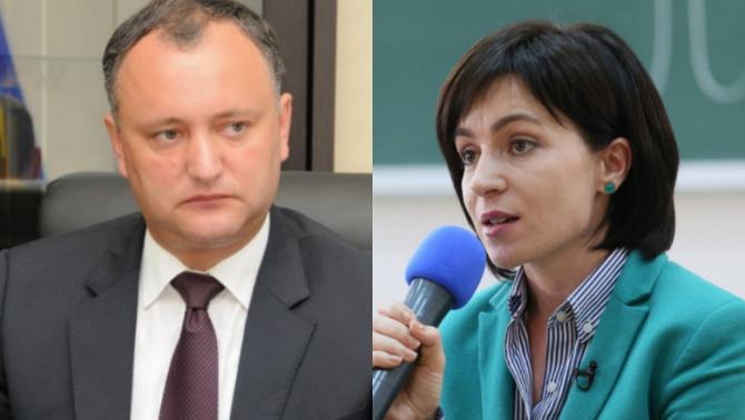 Igor Dodon și Maia Sandu